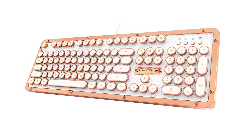 殿堂 Azio MK-RETRO-L-03-US Azio レトロクラシック - USB ラグジュアリー USB ヴィンテージ バックライト MK-RETRO-L-02-US 機械式キーボード ホワイト MK-RETRO-L-02-US ポッシュ USB (Posh USB) B075DY531V, アトリエYOUプラス:a888d891 --- nicolasalvioli.com