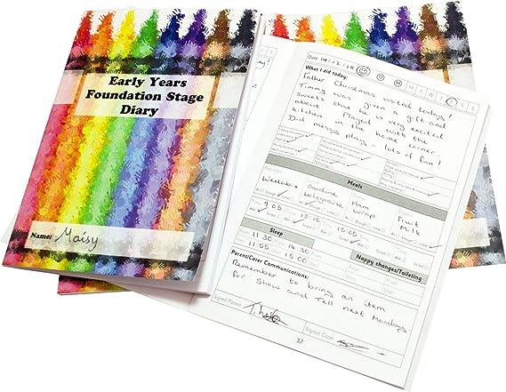 Agenda escolar de la empresa EYFS para el cuidado de los ...