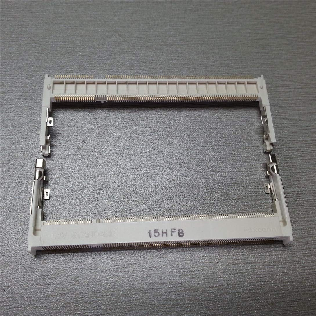 Cable Length: DDR2 Slot, Color: White Computer Cables AS0A426-N2SN-7F Original Memory Card Slot Socket 200Pin 1.8V Positive 5.2cm Height White for DDR2