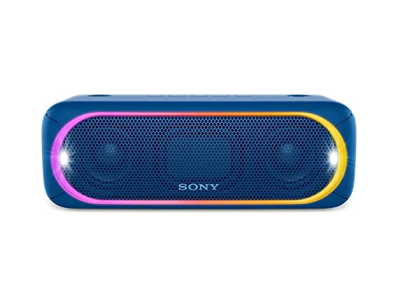 Sony SRSXB30/BLUE Portable Wireless Speaker with Bluetooth, Blue Bluetooth Speakers at amazon