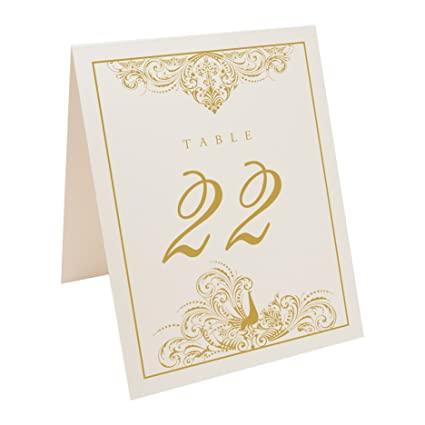 c74721e593238 Amazon.com  Documents and Designs Peacock Flourish Table Numbers (Select  Color Quantity)