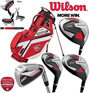 b481931576 Wilson Prostaff SGI Mens Complete Club Set Golf Package Fitted With Graphite  Shafted Irons & Graphite