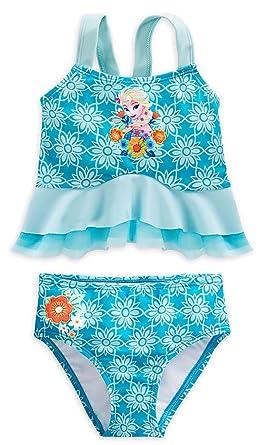 6f6569092d1ac Amazon.com  Disney Store Little Girls  Frozen Elsa Deluxe Swimsuit ...