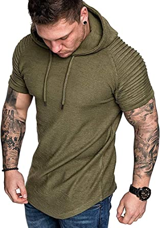 Mens Athletic Compression T Shirts Sports Running Gym Plain Tee Stretchy
