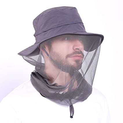 Amazon Mosquito Head Net Hat Fishing Hat With Netting For