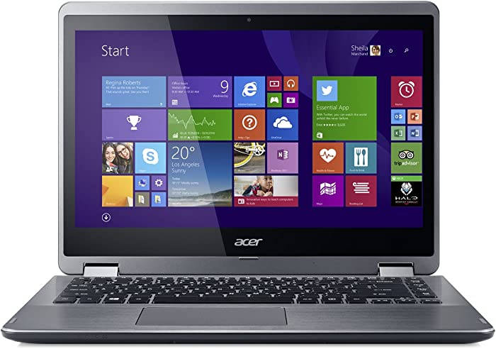 Acer Aspire R14 R3-471T-53LA 14-Inch HD Convertible 2 in 1 Touchscreen Laptop (Silver)