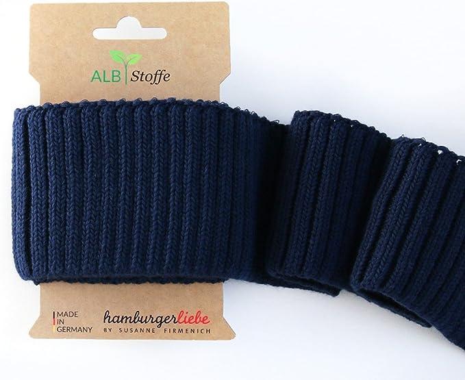 Cuffs Bündchen dunkelblau Fertigbündchen 135 cm x 7,0 cm Strickbündchen