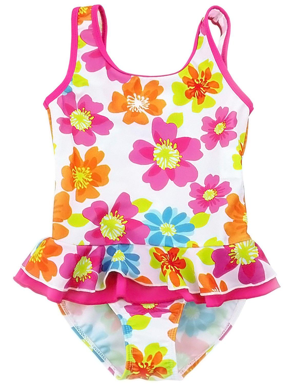 Jxstar Little Girls One Piece Swimsuit Flowers Kids Summer-100