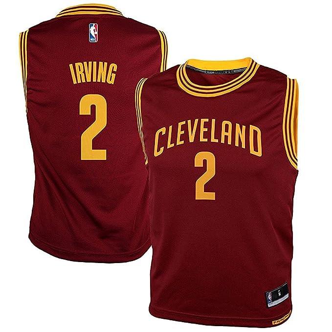 adidas Kyrie Irving Cleveland Cavaliers Rojo NBA Kids Revolution 30 Réplica de La Camiseta: Amazon.es: Ropa y accesorios