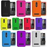 Accessory Master Silikon-Hülle für Nokia Asha 210 (10-er Pack) pink/schwarz/weiß/rot/grün/blau/gelb/Sky/blau/orange