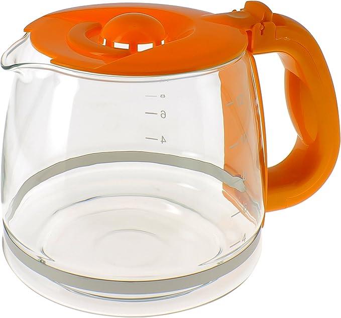 Jarra Color Naranja con tapa para cafetera: Amazon.es: Grandes ...