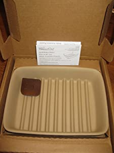 Pampered Chef 1342Small Ridged Baker, 9 x 6.75 x 1.75-Inches