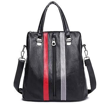 Marca de moda mujeres multifuncional mochila Patchwork bolso de escuela para adolescentes bolsos diarios de hombro de gran capacidad ocasionales Gray 12 ...