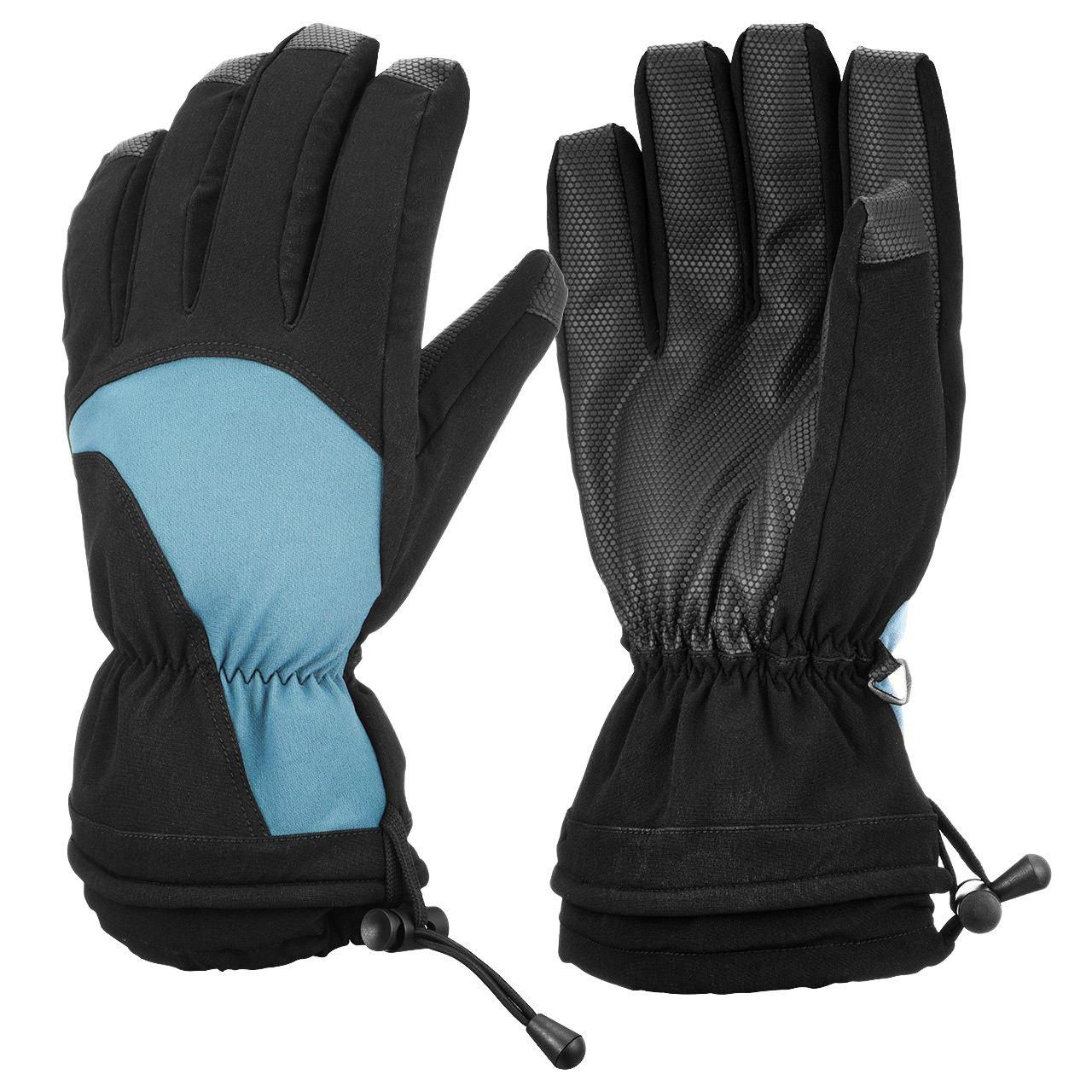 51c236076e Skihandschuhe, OMORC Ski Handschuhe Warm Wasserdicht Skifahren Handschuhe  für Herren Fahrrad Skifahren Warm Handschuhe Outdoor