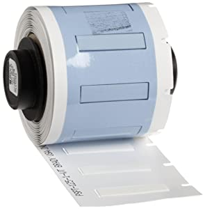 """Brady PSPT-125-1-WT TLS 2200 And TLS PC Link PermaSleeve 0.235"""" Height, 1.015"""" Width, B-342 Heat-Shrink Polyolefin White Color Wire Marker Sleeves (100 Per Roll)"""