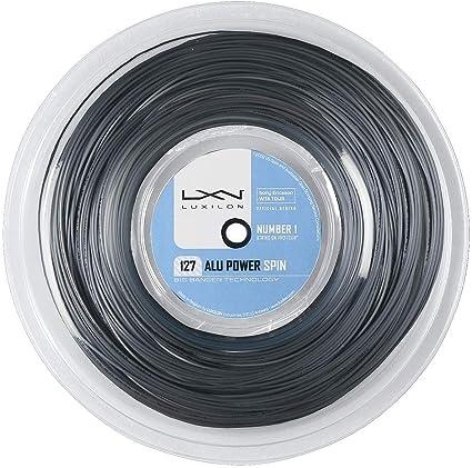 Luxilon Unisex Tennissaite Alu Power 127 Spin 1,27 mm 220 Meter Rolle WRZ993200 silber