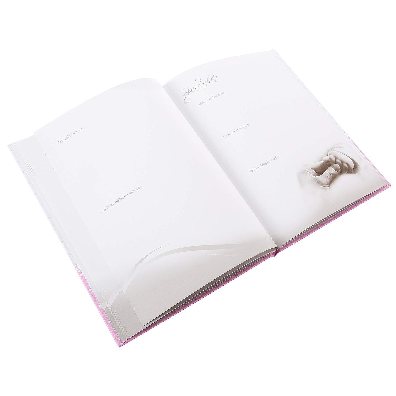 44 illustrierte Seiten 21 x 28 cm Bunny Blue 11127 Goldbuch Babytagebuch Wei/ß//Blau Leinenstruktur mit Applikation