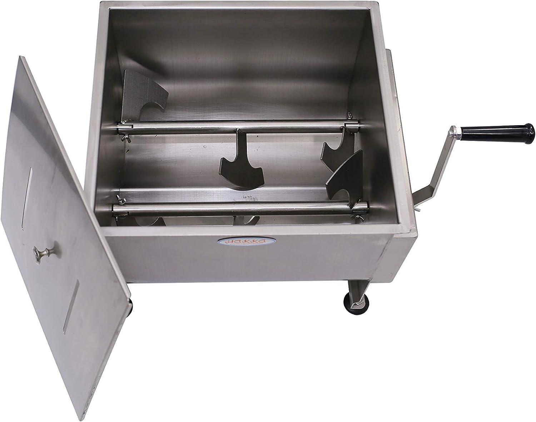 amazon com hakka 30 liter double axis manual meat mixer kitchen dining hakka 30 liter double axis manual meat