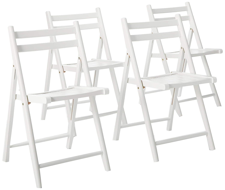 Amazon.com: Winsome sillas plegables, juego de 4, Madera ...