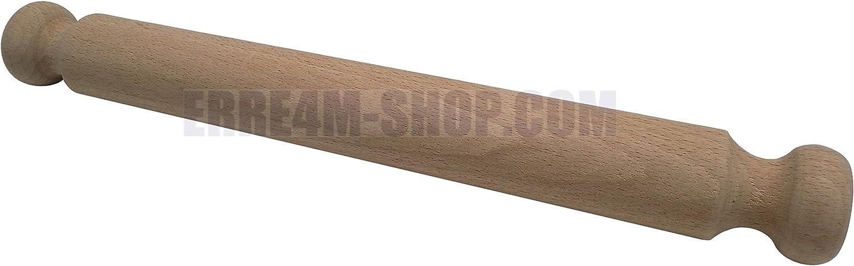 Erretre srl Mattarello in Legno Manici fissi da 40 cm Diametro 4,4 cm
