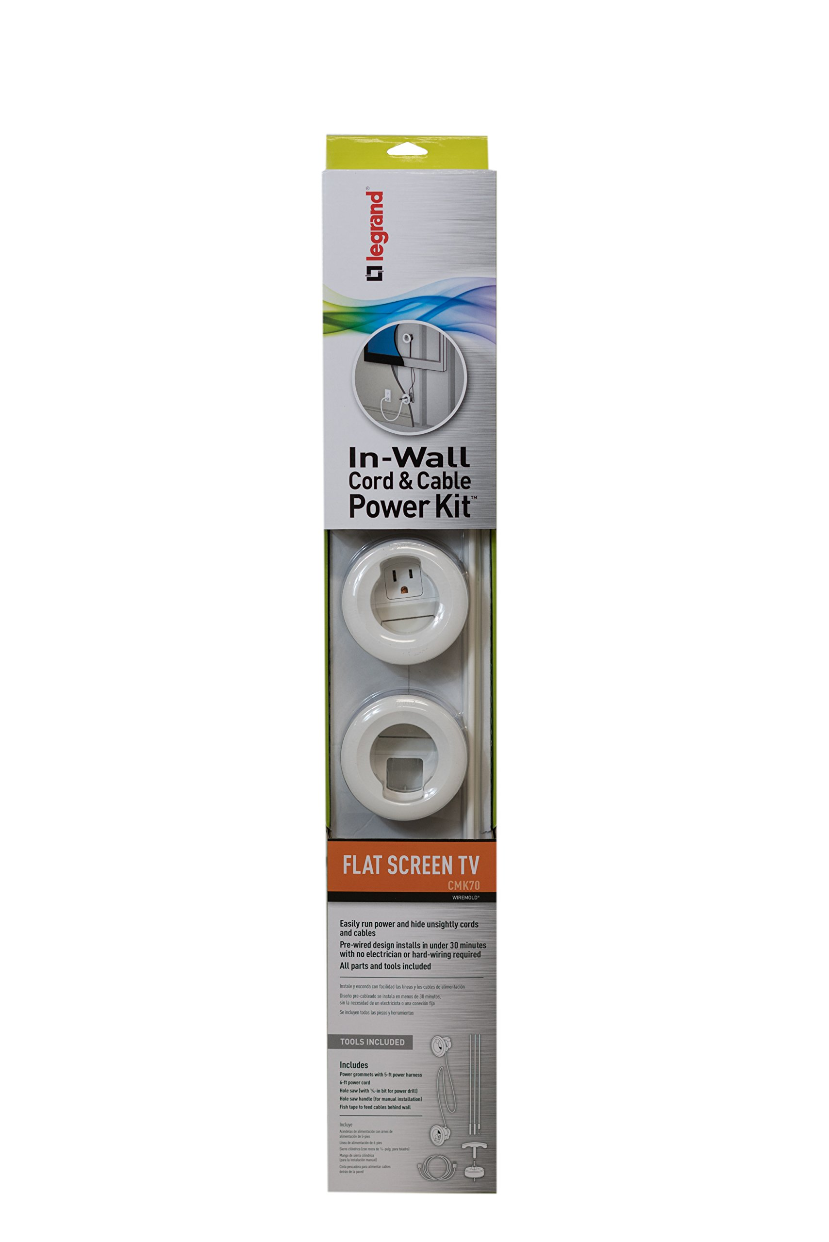 Wiremold Legrand 5 Ft Non Metallic Hinged Cord Cover