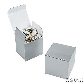 2 Silver Gift Boxes 2 Dozen Bulk