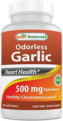 Best Naturals Odorless Garlic 500 mg 240 Softgel