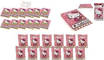 ALMACENESADAN 2432; Pack Fiesta y cumpleaños Hello Kitty; Compuesto por Mantel de plástico de Fiesta 120x180 cm; 16 Invitaciones con sobre y 16 Bolsas: Amazon.es: Juguetes y juegos