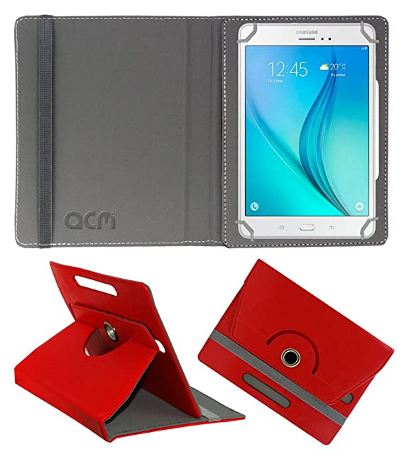 Acm Rotating 360 Leather Flip Case Compatible with Samsung Galaxy Tab A 7.0 2016  Tablet Cover Stand Red Tablet Accessories