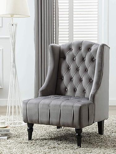 Altrobene Modern Velvet Accent Chair