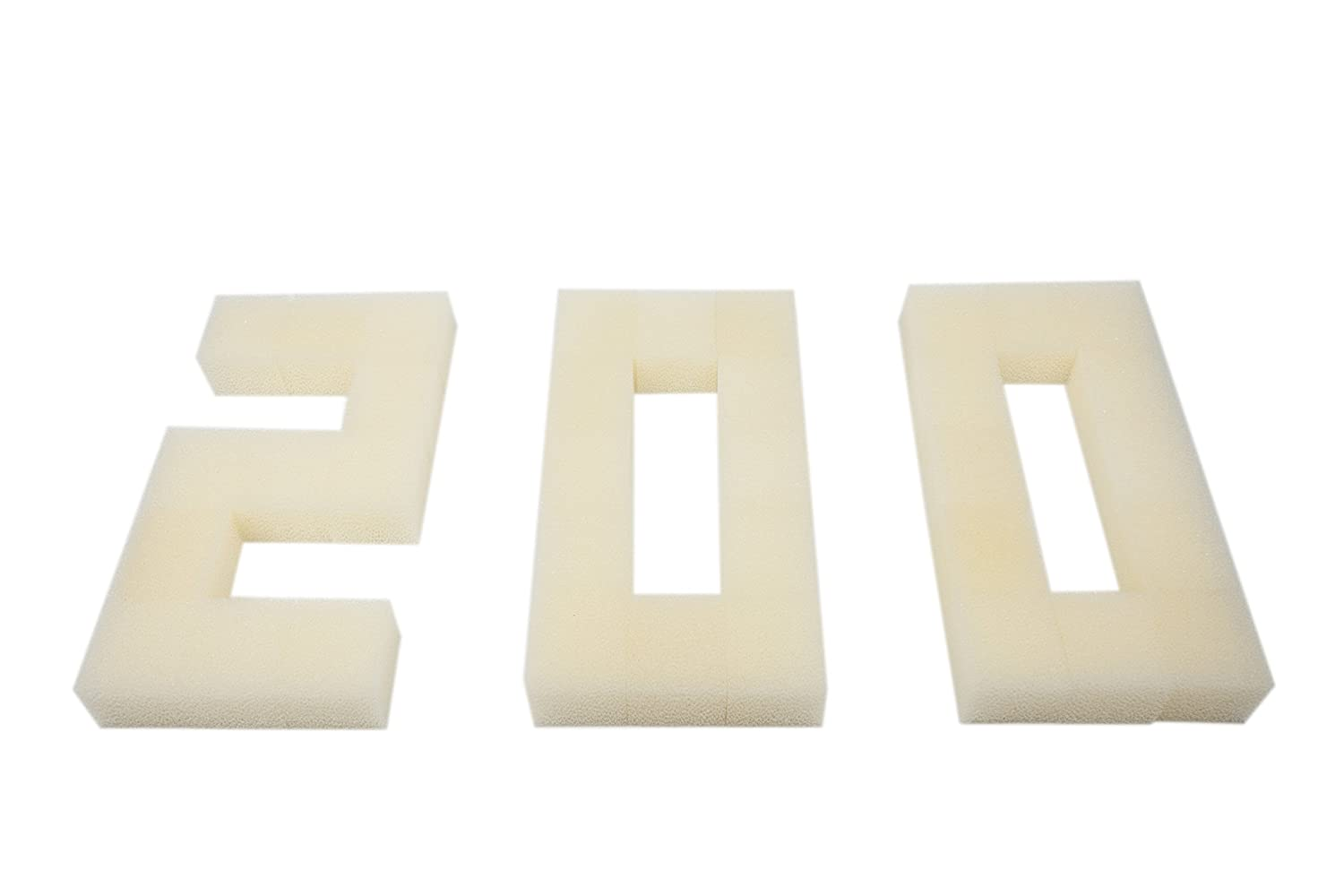 Pack of 200 LTWHOME Foam Filters Non-Branded Suitable for Fluval Edge Filter (Pack of 200)