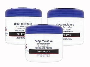 Neutrogena Deep Moisture Comfort Balm Body Moisturizer, Norwegian Formula Developed with Dermatologists, Rich Penetrating Formula for Dry Skin, 10.1 Ounce (Pack of 3)