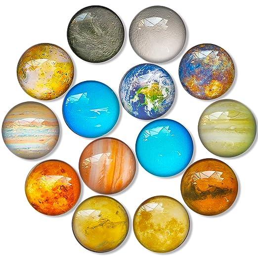 DUOUPA Imanes Nevera Pizarra Magnetica imanes de Frigorífico imanes de Vidrio 3D para refrigeradores, pizarras Blancas, gabinetes de Oficina