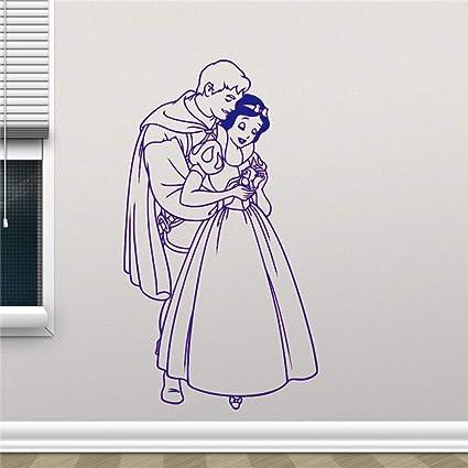 Yaoxingfu Blanche Neige Sticker Mural Dessin Animé Jolie