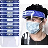 Suimiki 10pcs Transparent Safety Face Shield, Reusable Protective Shield Cover Visor, Anti-Saliva Double-Sided Anti-fog…
