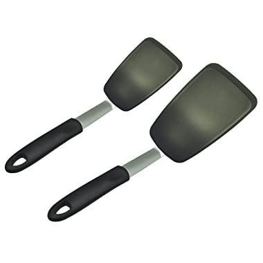 UNICOOK 2 Pack Flexible Silicone Spatula, Turner, 600F Heat Resistant, Ideal for Flipping Eggs, Burgers, Crepes and More, BPA Free, FDA Approved and LFGB Certified