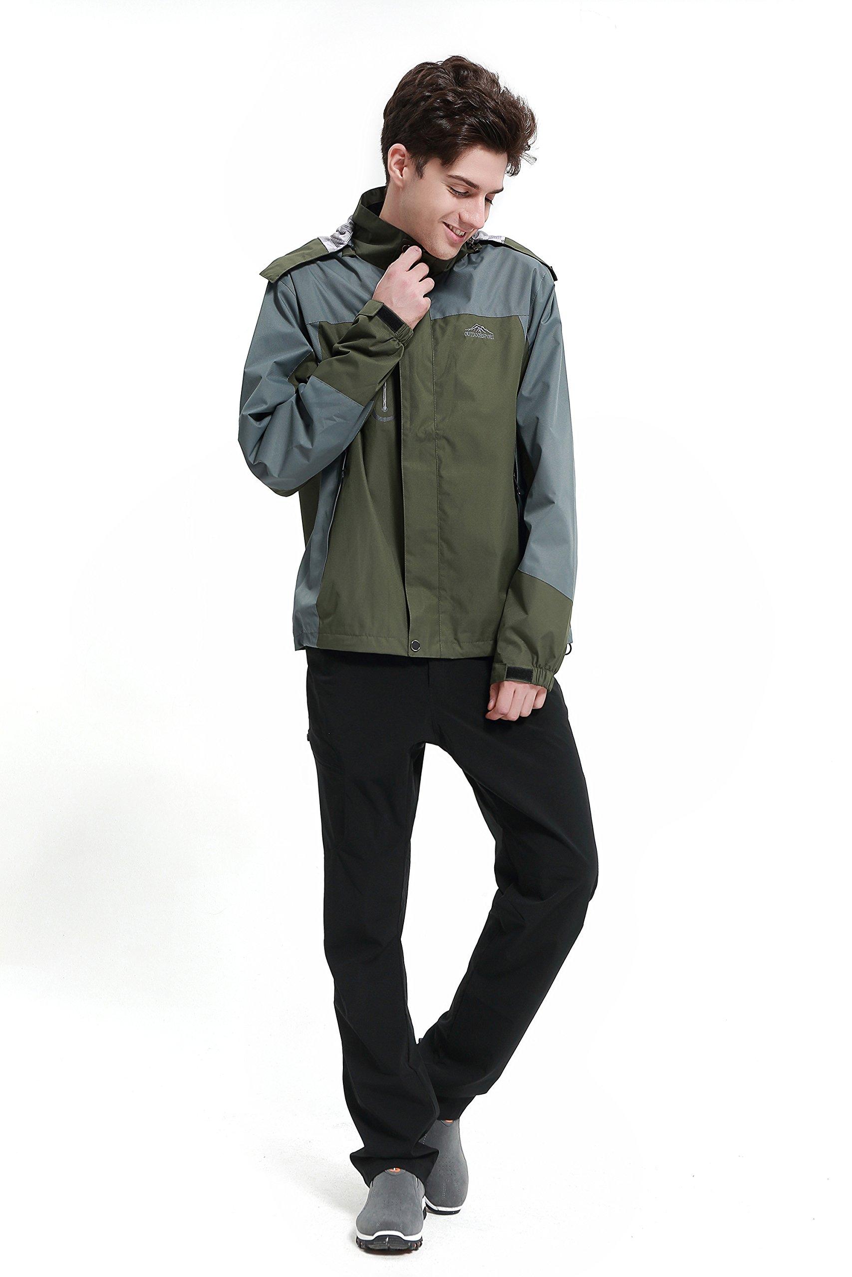 Diamond Candy men Sportswear Hooded Softshell Outdoor Raincoat Waterproof Jacket 02DGS