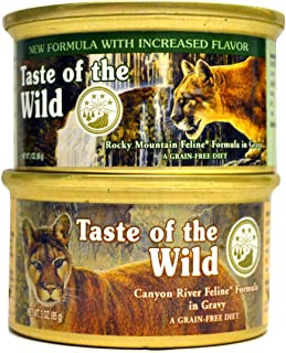 product image for Taste of the Wild Cat Food Variety Pack (Rocky Mountain Feline with Salmon and Roasted Venison Formula & Canyon River Feline Trout and Salmon Formula) 6 of Each Flavor