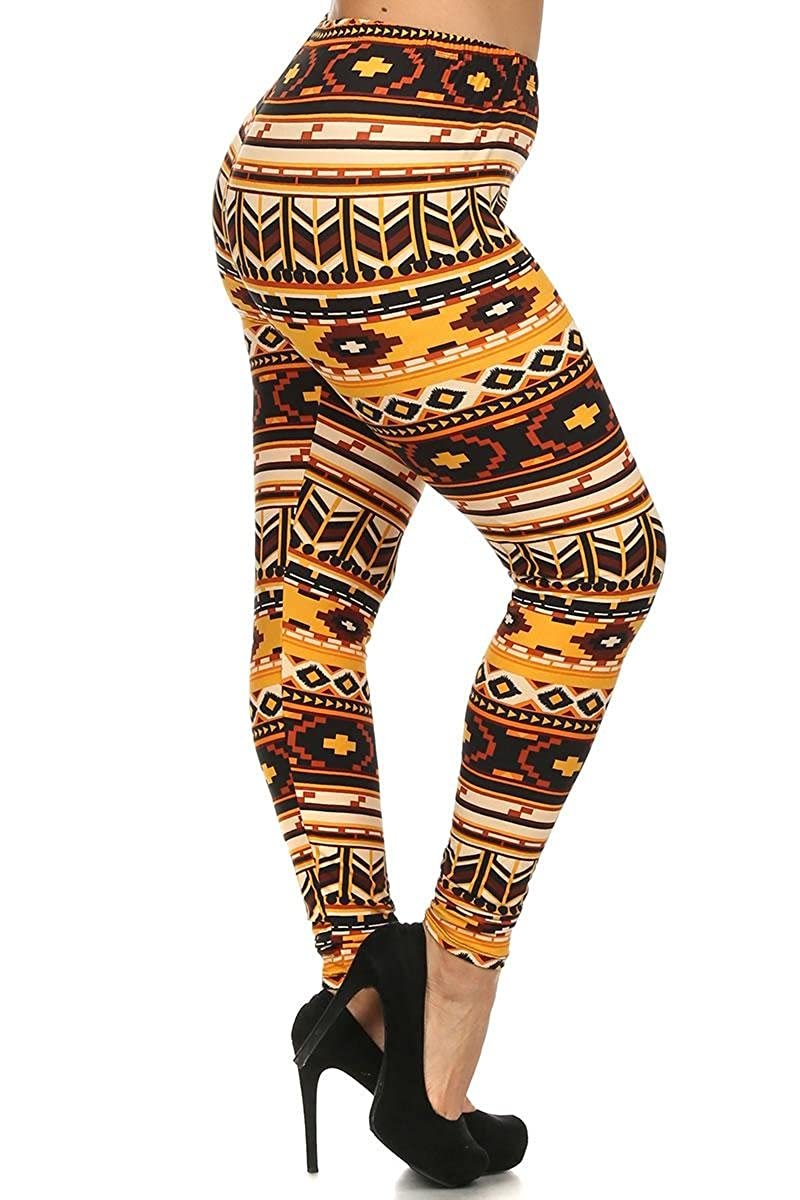 Always Plus Size Printed Leggings - Aztec, Camo, Animal, Paisley, and more! SXL-1031