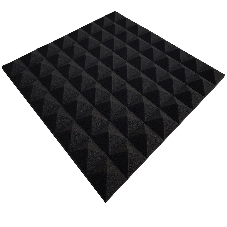 mousse, pyramide,insonorisante, panneau ,acoustique ,mousse, insonorisante, dimensions 49x49x2,5 cm , contenu 40 feuilles= 10 m² anthracite noir contenu 40 feuilles= 10 m²anthracite noir Mail2Mail