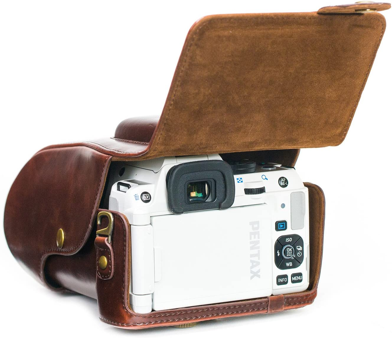 18-135mm MegaGear Ever Ready Leather Camera Case Compatible with Pentax K-S2