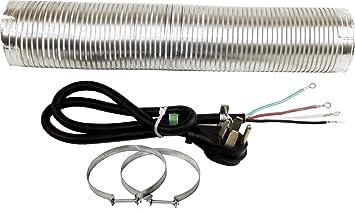 amazon com whirlpool w10182830rb dryer installation kit 4 whirlpool w10182830rb dryer installation kit 4 feet dryer power cord 4 wire