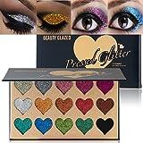 BEAUTY GLAZED Makeup 15 Colors Glitter Eyeshadow Palette