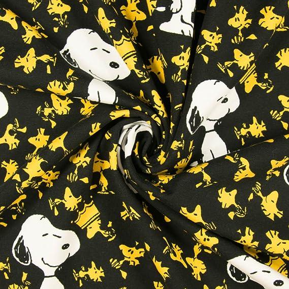 Stoffe Werning Baumwolljersey Lizenzstoff Peanuts Snoopy & Woodstock ...