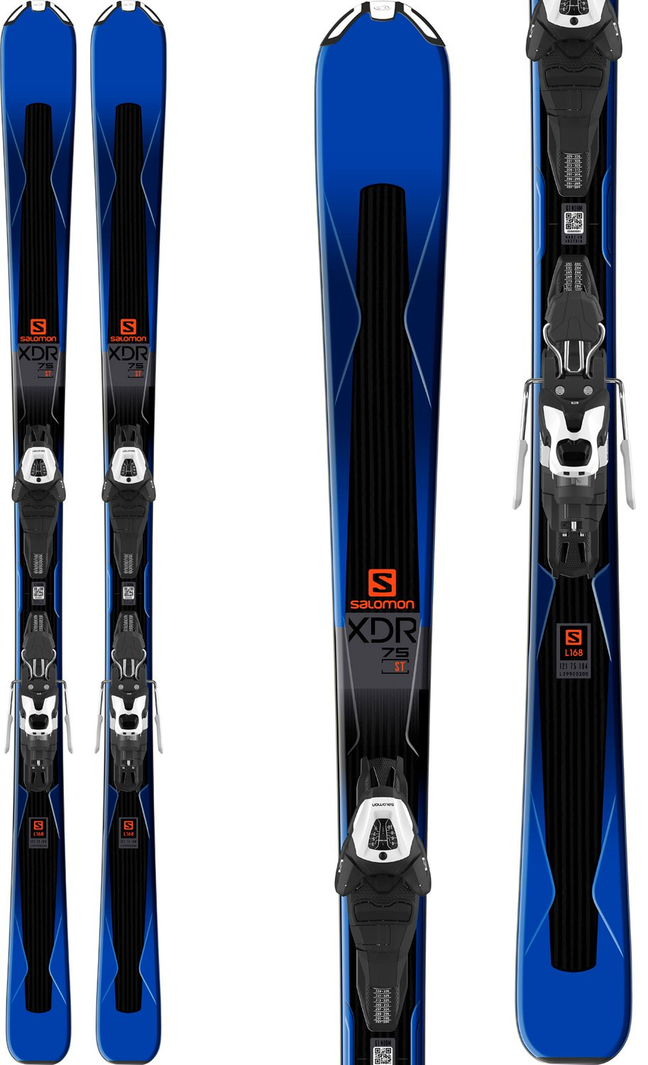 Salomon XDR 75 Skis w/Easytrak 2 Lithium 10 Bindings Mens