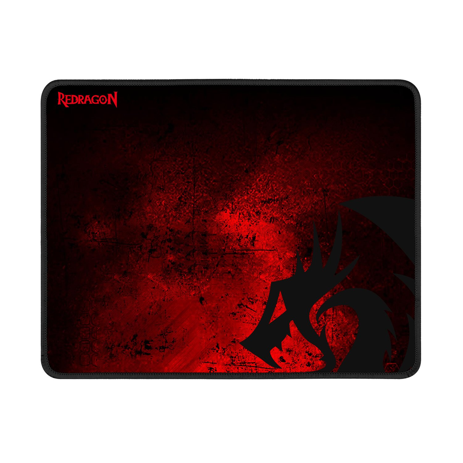 Redragon M601-BA Gaming Mouse and Mouse Pad Combo, Ergonomic Wired MMO 6 Button Mouse, 3200 DPI, Red LED Backlit Large Mouse Pad for Windows PC Gamer Black Wired Mouse Mousepad Set