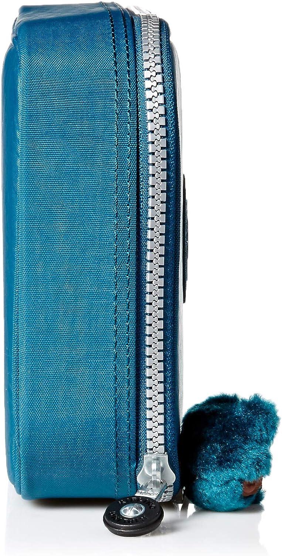 Kipling 100 Pens Pencil Case Sparkly Gold 6L X 8.25H X 2D