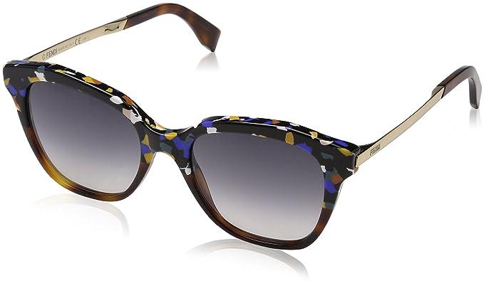 FENDI Fendi Damen Sonnenbrille » FF 0138/S«, schwarz, N76/NQ - schwarz/braun