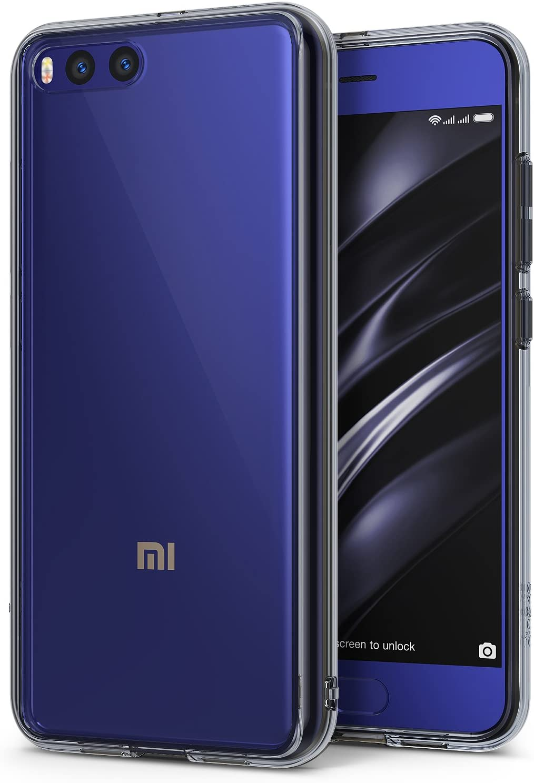 Ringke Funda para Xiaomi Mi 6, [Fusion] Protector de TPU con Parte Posterior Transparente de PC Protectora biselada para Xiaomi Mi6 - Negro Humo Smoke Black