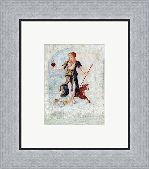 Amazon.com: Aphrodite Framed Art Print Wall Picture, Flat Silver ...